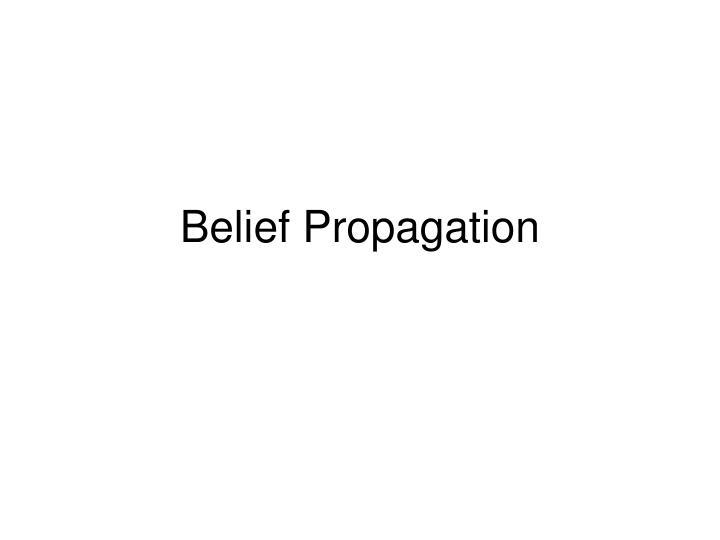 belief propagation n.