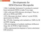 developments for sem electron microprobe