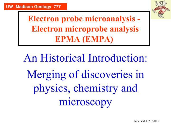 Electron probe microanalysis electron microprobe analysis epma empa