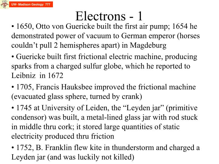 Electrons 1