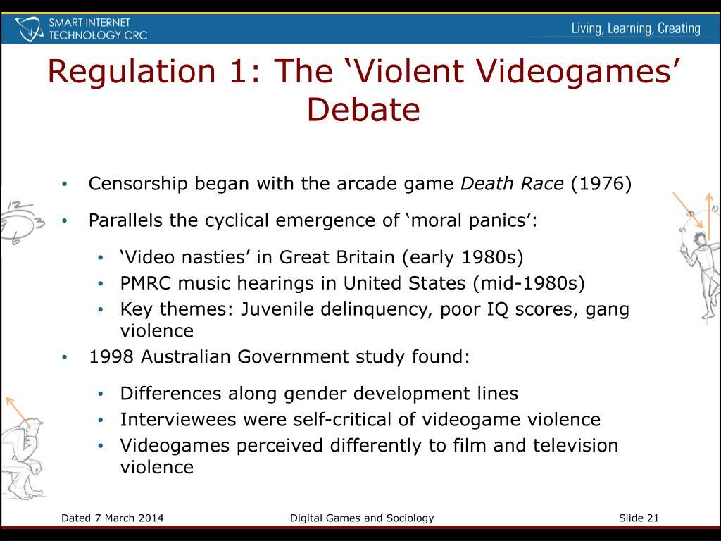 Regulation 1: The 'Violent Videogames' Debate