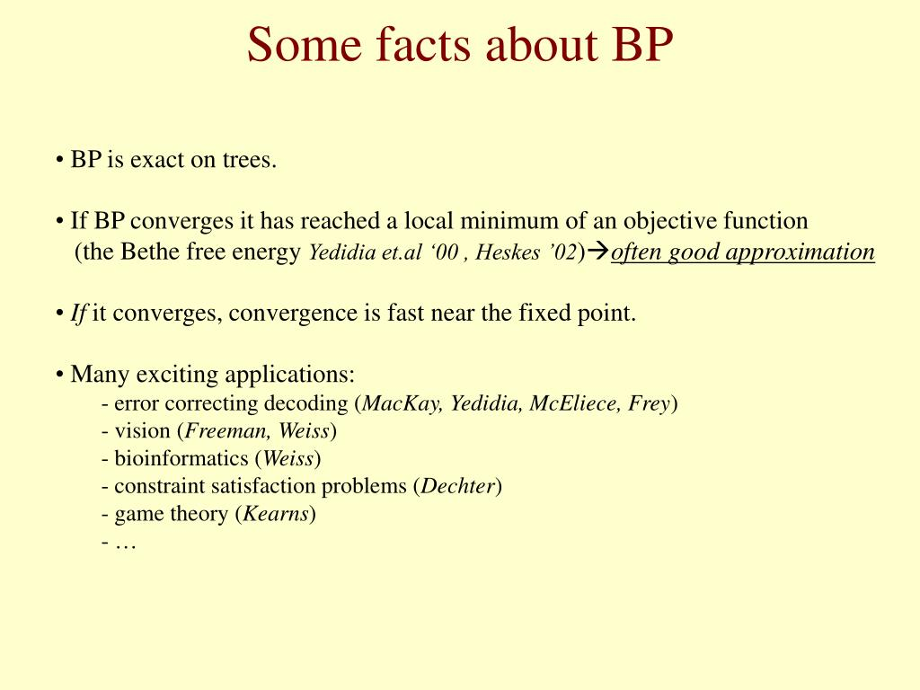 Some facts about BP