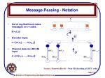 message passing notation