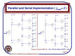 parallel and serial implementation j max 3
