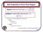 suc properties in error floor region