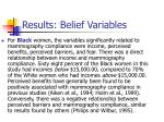 results belief variables15