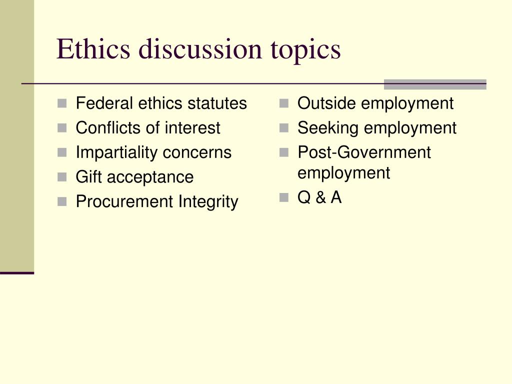 ethics in government procurement