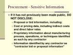 procurement sensitive information