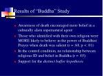 results of buddha study