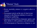 shaman study