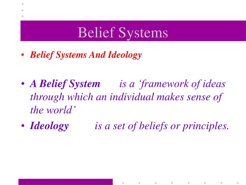 belief systems l.