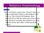 religious organisations