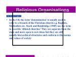 religious organisations34