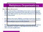 religious organisations37