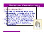 religious organisations40