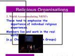 religious organisations41