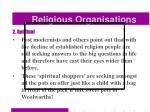 religious organisations46