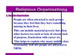 religious organisations47