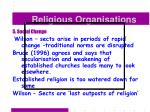 religious organisations49