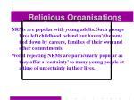 religious organisations51