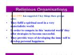 religious organisations53