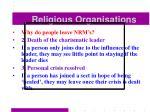 religious organisations55