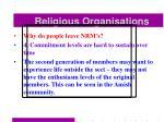 religious organisations56