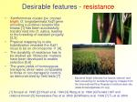 desirable features resistance