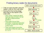 finding binary codes for documents
