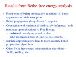 results from bethe free energy analysis