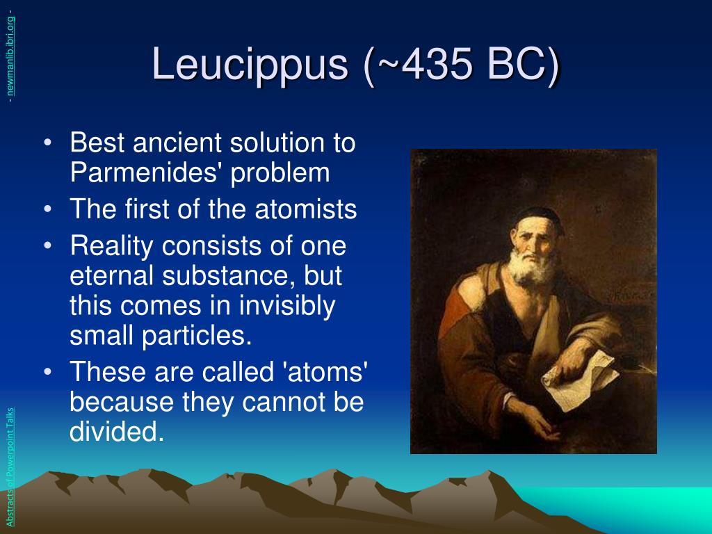 Leucippus (~435 BC)