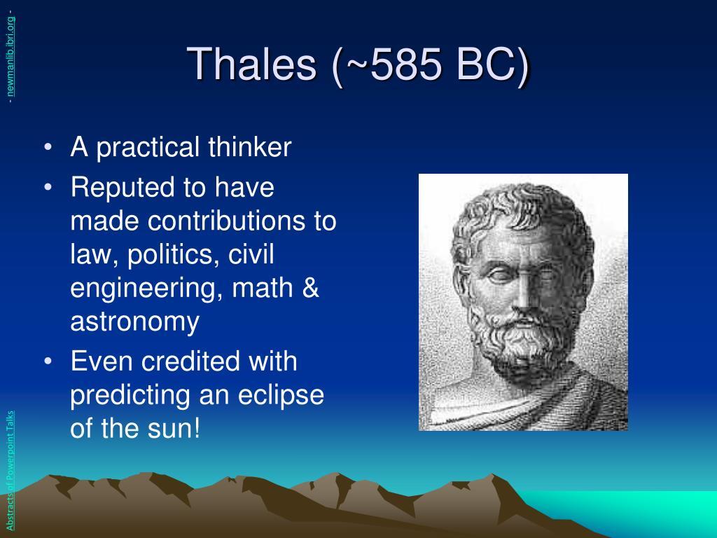 Thales (~585 BC)