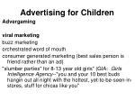 advertising for children