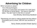 advertising for children64