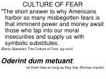 culture of fear44