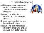 eu child marketing