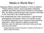 media in world war i