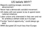 us beliefs why