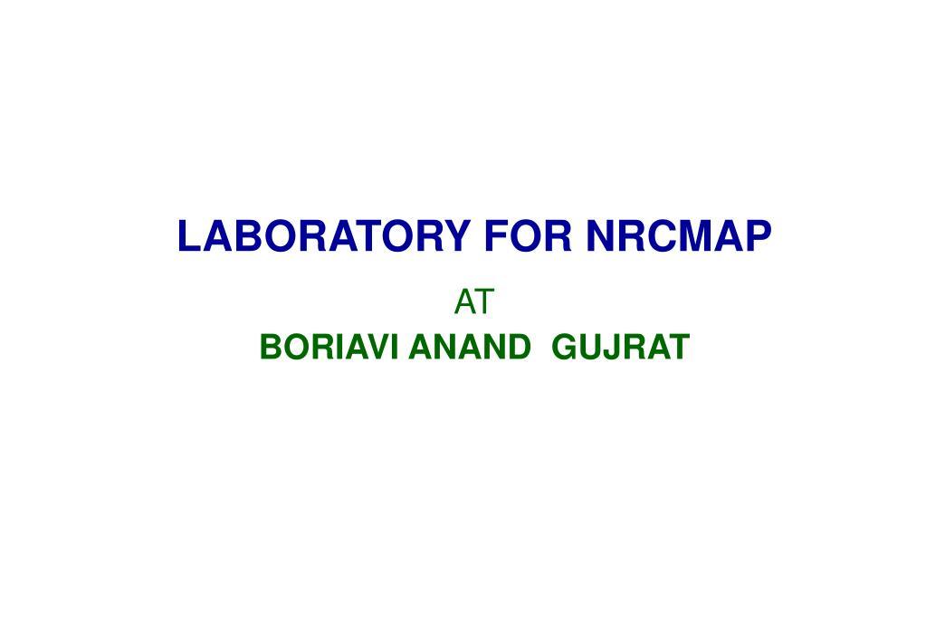 LABORATORY FOR NRCMAP