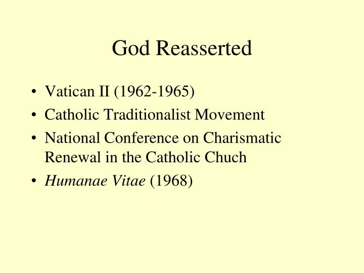 God reasserted