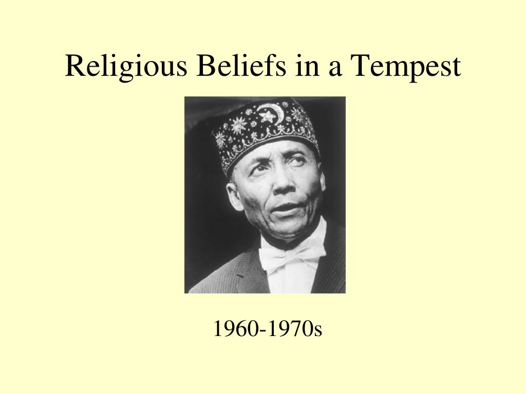 religious beliefs in a tempest l.