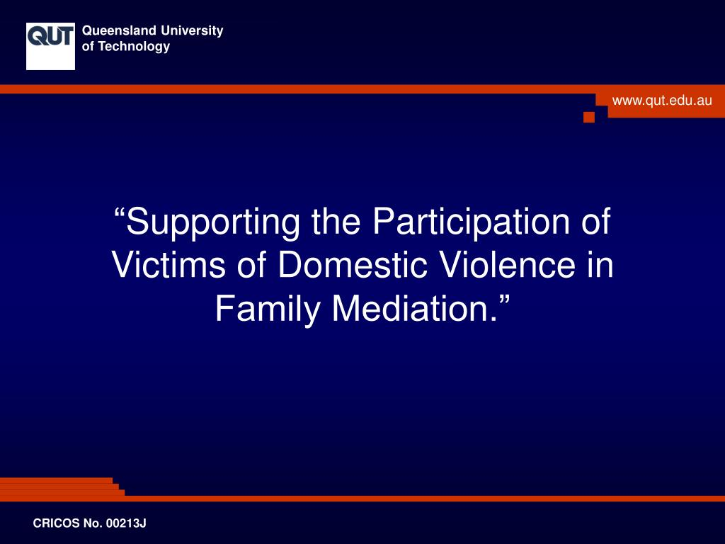 supporting the participation of victims of domestic violence in family mediation l.