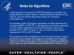 notes for algorithms