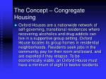the concept congregate housing