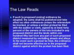 the law reads