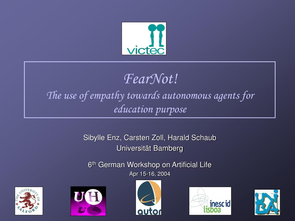 fearnot the use of empathy towards autonomous agents for education purpose l.