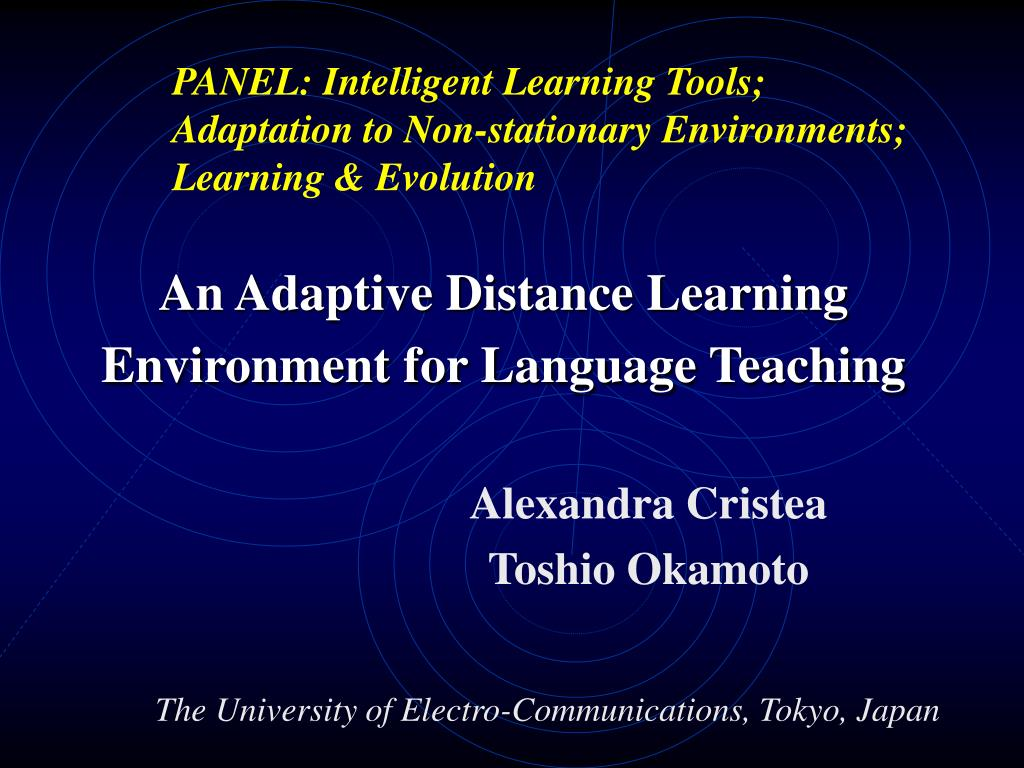 an adaptive distance learning environment for language teaching l.