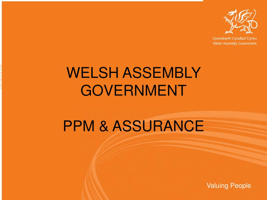 welsh assembly government ppm assurance l.