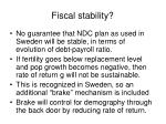 fiscal stability