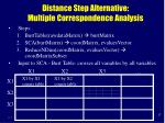 distance step alternative multiple correspondence analysis